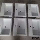 Lavabo di pietra su ordinazione di piccola dimensione della resina