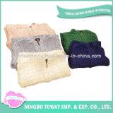 Jungen-graue kühle Baumwolwolljacke-mit Kapuze Strickjacken der Kinder