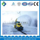 Werfender Snowmobile/Schneepflug