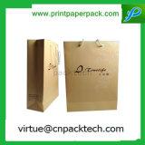 포도 수확 디자인 손잡이를 가진 장식적인 큰 인쇄된 Kraft 종이 선물 부대