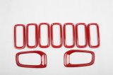 De auto Bijkomende ABS Materiële Rode VoorGrill&Fog Lamp van de Stijl Covers Dekking voor het Model van de Apostaat (7PCS/SET)