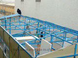 Tres suelos encienden la casa modular de la estructura de acero para la comodidad