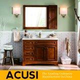 Vaidade simples americana superior nova do banheiro da madeira contínua do estilo (ACS1-W57)