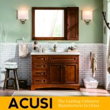 Meubles simples en gros de la meilleure qualité neufs de salle de bains de Module de salle de bains de vanité de salle de bains en bois solide de type (ACS1-W57)
