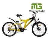 La bici eléctrica promocional En15194 de 2017 MTB aprobó con la suspensión completa