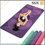 De hoge Mat van de Yoga van de Matten van de Yoga van de Snelheid van de Kleur Douane Afgedrukte met Zak