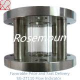 Indicateur en verre à pleine vue à flasque d'écoulement d'eau de cylindre