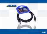 RG6 Rg59 het Coaxiale F Snelle Mannetje van TV aan Mannelijke Kabel