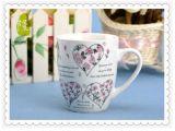 tazza di ceramica della decalcomania 300ml, tazze di ceramica spesse