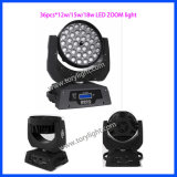 Zoom do diodo emissor de luz que move as luzes principais de 36PCS Rgbwmoving