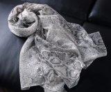 نمو كلاسيكيّة ثعبان طباعة بوليستر سيّدة [سكرف] مع فضة حارّ يختم ([هوببس209])