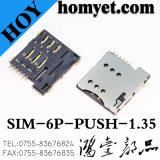 Микро- разъем карточки гнезда SIM карточки SIM с типом SMD
