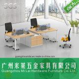 Cuero de la tabla de la manera de la manera Cuatro asientos Muebles de la oficina con el gabinete