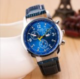 O molde 2017 o mais novo personalizou o relógio da cinta de couro do projeto