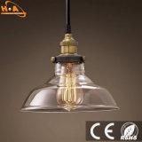 Lámpara colgante de cristal ligero de la decoración de la vendimia con el tornillo E27