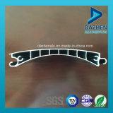 Profil en aluminium en aluminium personnalisé de guichet de porte d'obturateur de rouleau