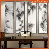 Belle peinture à l'huile d'horizontal de type chinois