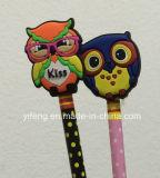 Support mou personnalisé Gofts de publicité épatant de crayon de crayon lecteur de crayon de PVC 3D