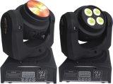 2側面4X10W LEDの小さい4in1ビーム移動ヘッドRGBW洗浄ライト(ICON-M067)