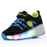 أطفال [رولّر سكت] يبيطر أحذية مع عجلات قابل للانكماش يجعل في [جينجينغ] مصنع, جديات رياضة بكرة حذاء رياضة لأنّ بنات
