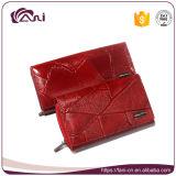 Кожа бумажника женщин, изготовление бумажника женщин кожаный, фабрика бумажника OEM
