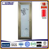 Électrophorèse en aluminium Champagne ISO9001/ce de porte de tissu pour rideaux de charnière imperméable à l'eau