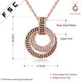 공장 남녀 공통을%s 판매에 의하여 새겨지는 로즈 금 모조 다이아몬드 합금 목걸이