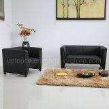 Negro comercial sala de estar con sofá de la PU de la tapicería (SP-KS366)