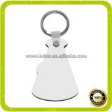 Porte-clés bon marché de blanc de sublimation des prix pour la presse de la chaleur