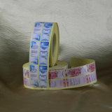 Escritura de la etiqueta impermeable auta-adhesivo de la etiqueta engomada del vinilo de la impresión de encargo