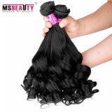 Extensão 100% brasileira do cabelo de Remy do Virgin do Weave do cabelo humano da flor da pera do cabelo de Msbeauty