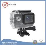 超ジャイロコンパスの反振動機能HD 4k完全なHD 1080 2inch LCDカメラのスポーツの処置の小型ビデオ30m防水カムコーダー