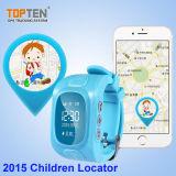 Perseguidor del GPS del reloj del cabrito con APP libre y la detección sana Wt50-Ez