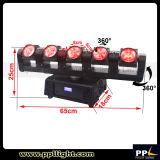 Luz principal móvil de la viga de la iluminación 5X12W RGBW 4in1 LED del disco LED de la etapa