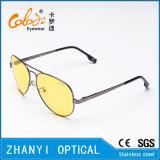 Óculos de sol coloridos do metal da forma para conduzir com Lense Polaroid (3025-C3)