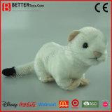 현실적 연약한 장난감 박제 동물 Stoat 견면 벨벳에 의하여 짧 꼬리가 달리는 족제비