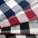 Tela de linho do poliéster do algodão de rayon para o sofá da camisa da saia do vestido