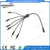 6-Way alimentation CC Câble Splitter pour CCTV Caméras vidéo (SP1-6)