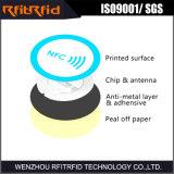Ntag213/215 etiqueta anti pasiva del metal NFC