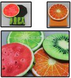 최신 판매! 과일 수박 디자인 둥근 오토만 저장 발판 저장을%s 가진 Foldable 시트 상자
