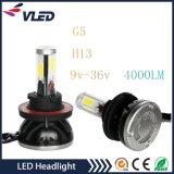 Langlebiger Scheinwerfer der Autoteil-H1/H4/H7/H8/H9/H11/9005/9006 des Auto-LED mit 4000lm/40W