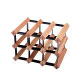 Projeto de madeira da cremalheira do vinho da natureza da madeira de pinho de 12 frascos para a mobília Home