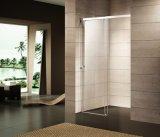 (K-718) Сползать дверь ливня/стеклянную дверь с защитной сеткой