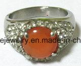 Anillo de dedo de piedra de Castion de la joyería del acero inoxidable de la manera (SCR2982)