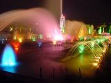 プールの明るさの薄層のジェット機水噴水