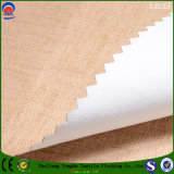 Matéria têxtil Home tela de linho tecida da cortina de indicador do poliéster impermeável do escurecimento do franco