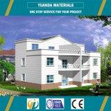 Casa prefabricada confeccionada de la estructura de acero de la fábrica