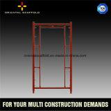 Type de porte bâti en acier de système Manson d'échafaudage pour la construction