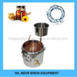 Micro strumentazione di preparazione della birra di vendita dell'acciaio inossidabile 30L della famiglia del fermentatore della caldaia calda di Brew
