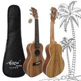 Круглая задняя часть 24 гитары Ukulele Гавайских островов Koa согласия дюйма деревянных